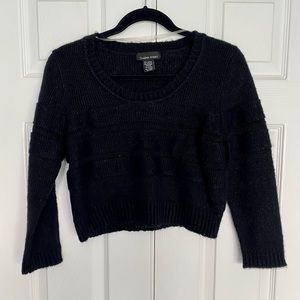 Sweater Project Black Crop Top Sweater Size XL